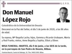 Fallece Manuel López Rojo