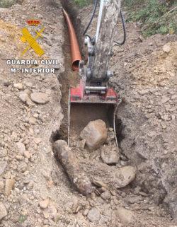 La Guardia Civil destruye un proyectil de artillería de la Guerra Civil