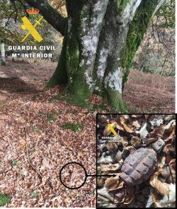 La Guardia Civil destruye una granada de mano de la Guerra Civil