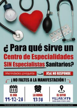 """La plataforma """"No eres de las Merindades si no Luchas por la Sanidad"""" vuelve a las reivindicaciones con una concentración en Villarcayo"""