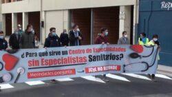 Manifestación en defensa de la sanidad en Villarcayo