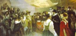 Villarcayo, cuadro pictórico de su elección como capital de Las Merindades